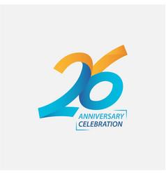 26 year anniversary celebration template design vector