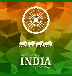 26th january india republic day vector