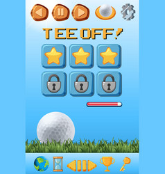 a golf game template vector image