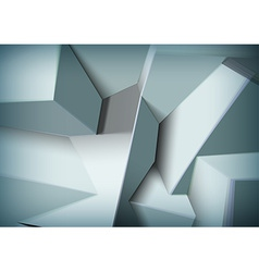 Abstract background with overlapping black cubes vector