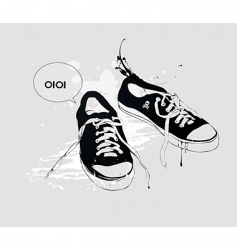 athletic shoes vector image