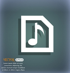 Audio MP3 file icon symbol on the blue-green vector image