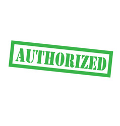Authorized stamp on white vector