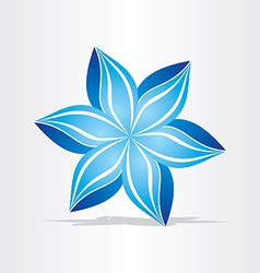 Blue flower abstract design vector
