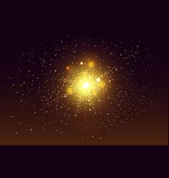 bright festive colorful fireworks set vector image