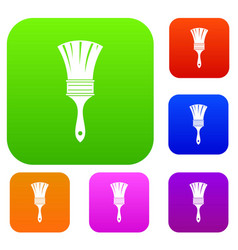 brush set color collection vector image