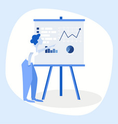 business woman making a presentation vector image