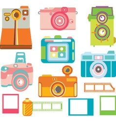 Camera ElementsColorful Camera Collection vector