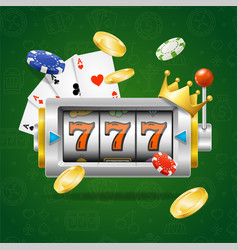 casino concept slot machine vector image