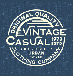 Casual vintage stamp for denim t shirt vector