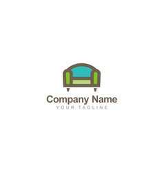 chair furniture company logo vector image