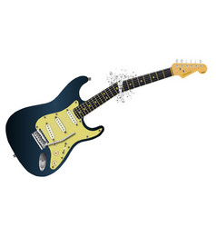 clean guitar neck break vector image