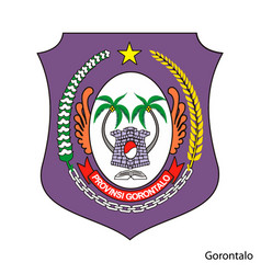 Coat arms gorontalo is a indonesian region vector