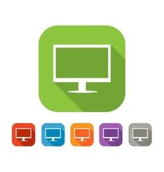 color set flat computer icon vector image