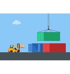 Concept marine cargo port vector