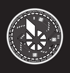 Crypto currency bitshares black and white symbol vector