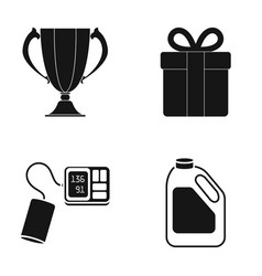 cup gift and other web icon in black style vector image