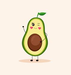 cute avocado girl 3 vector image