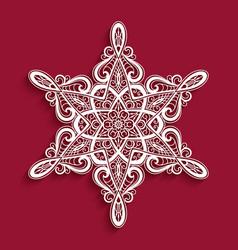 cutout paper snowflake vector image
