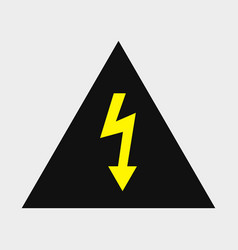 Danger electrical signal icon vector