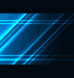 diagonal glowing lines on a dark blue background vector image