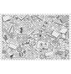 drawing doodle set vector image