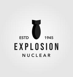Fat man boy nuclear bomb logo icon vector