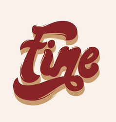 Fine hand drawn lettering isolated template for vector