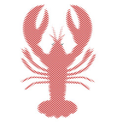 Fish lobster composition vector
