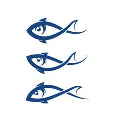 fish logo template creative symbol vector image