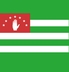 flag of republic of abkhazia vector image