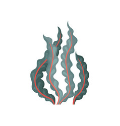 Flat icon of seaweed aquatic plant vector