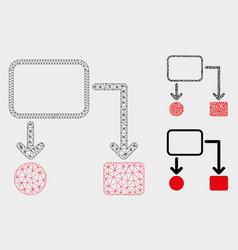 flowchart scheme mesh network model and vector image