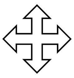 Full Screen Arrows Contour Icon vector