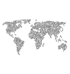 global map mosaic of person icons vector image