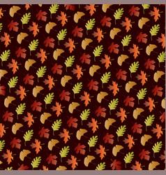 gradient leaf pattern on brown vector image