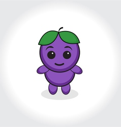 Grapes character plum character Grapes or plums ma vector