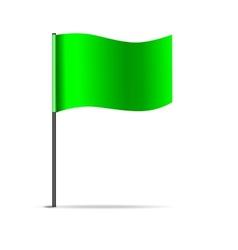 Green flag vector