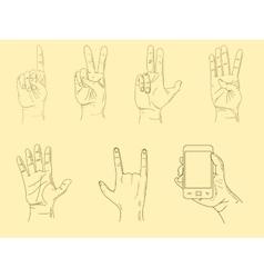Hands sketch vector