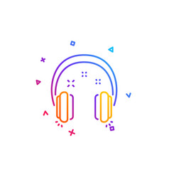 Headphones line icon music sign vector