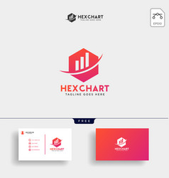 hexagon business consulting logo template vector image