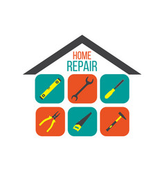 home repair concept with tools vector image