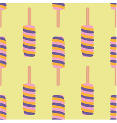 Ice cream colorful seamless pattern vector