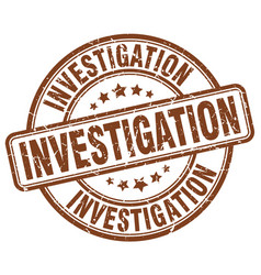 Investigation stamp vector