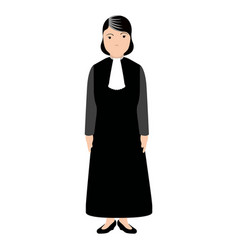 Isolated magistrate avatar vector