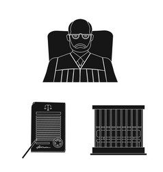 isolated object of law and lawyer symbol vector image