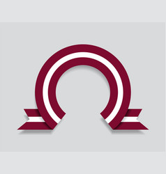 Latvian flag rounded abstract background vector
