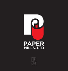 Logo paper roll mills branding business papers vector
