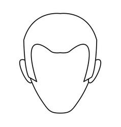 male profile faceless vector image