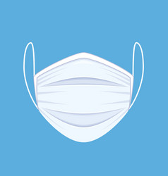 medical or surgical face mask vector image